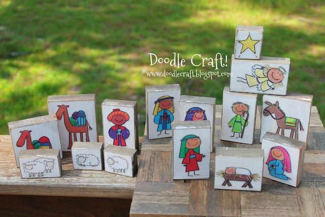 http://www.doodlecraft.blogspot.com/2012/09/kid-friendly-wood-block-nativity-set.html