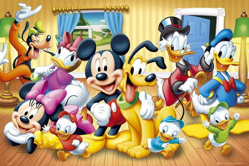 All Character Mickey Mouse Poster