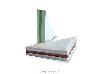 Cách gấp, xếp cái bánh sandwich bằng giấy origami - Video hướng dẫn xếp hình đồ ăn - How to fold a Sandwich