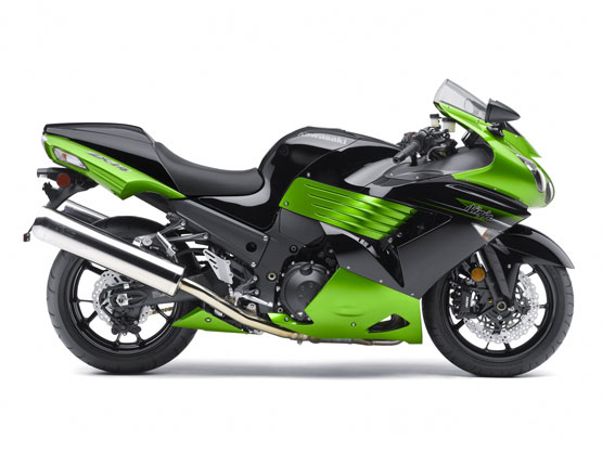 2011 kawasaki ninja zx-14 green color