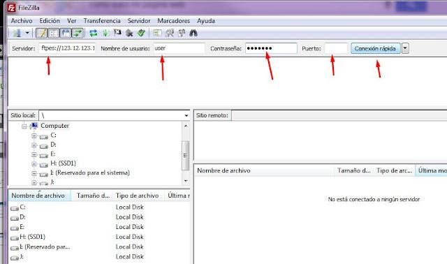 subir pagina web a hosting via sftp