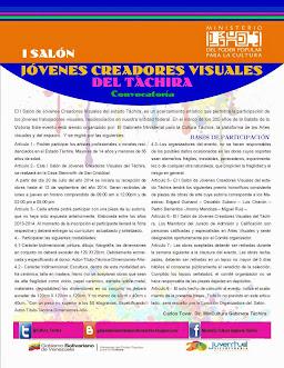 *CONVOCATORIA*  I SALÓN JÓVENES CREADORES VISUALES DEL TÁCHIRA