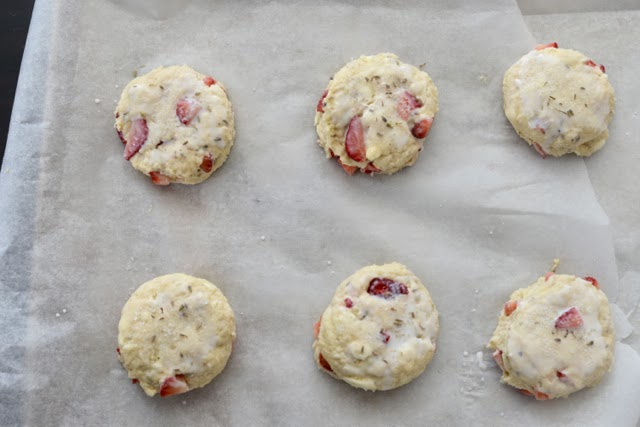 strawberry lavender scones