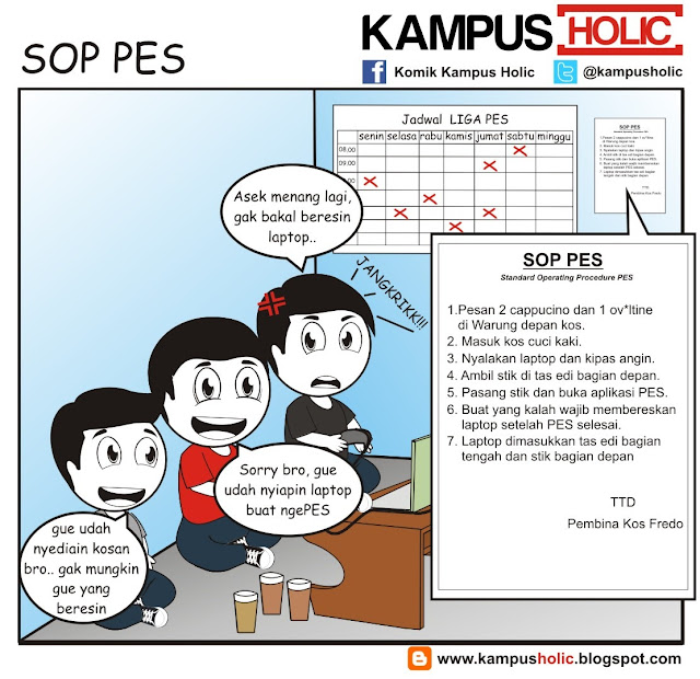 #208 SOP PES, Standard Operating Procedure PES Komik kampus Holic