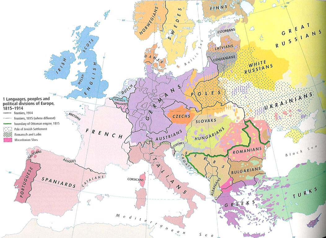 Ethnic map of Europe