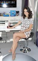 Jordana Brewster sitting in a chair