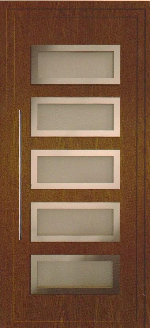 Todo puertas modernas en aluminio nuevos modelos en la for Modelos de puertas principales para casas