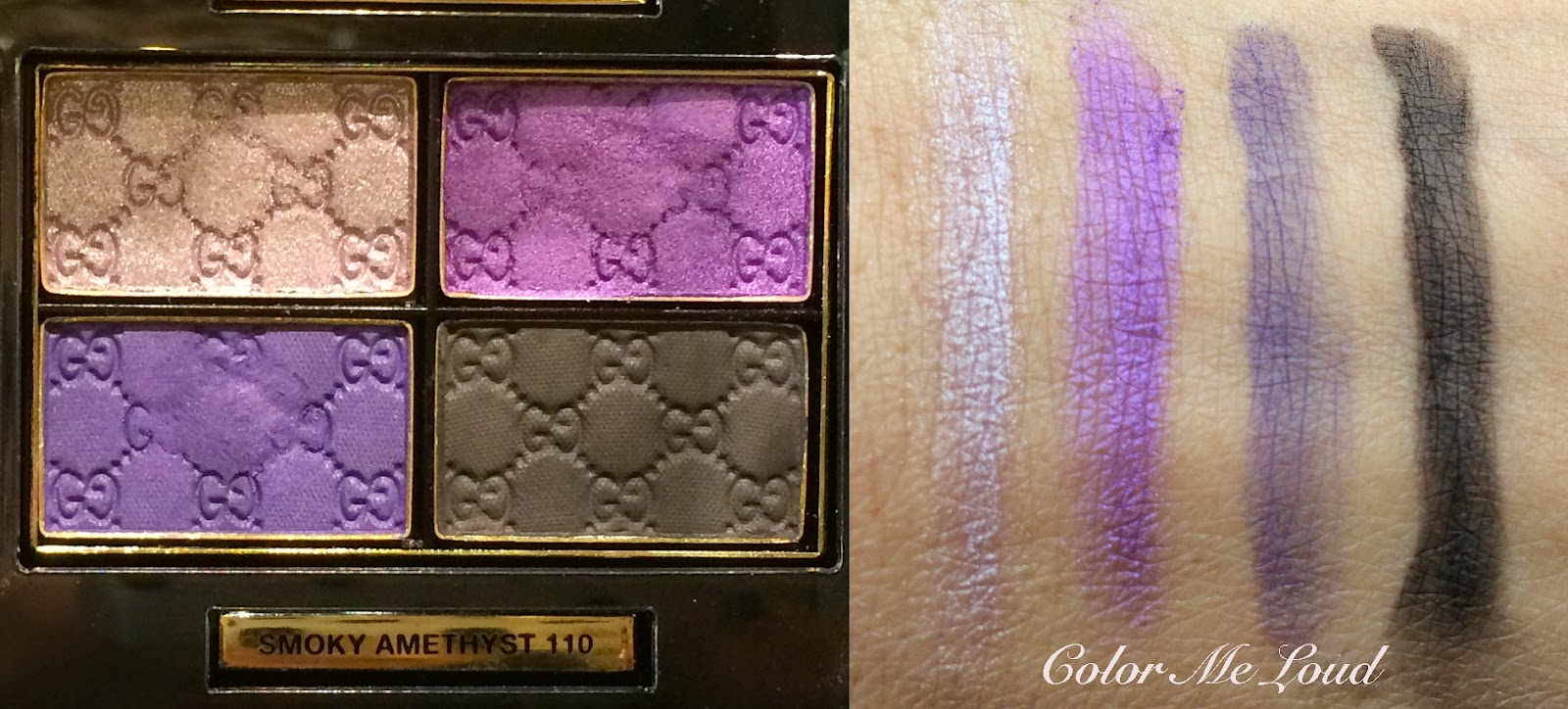 Swatch: Gucci Magnetic Color Eye Shadow Quad in Smoky Amethyst