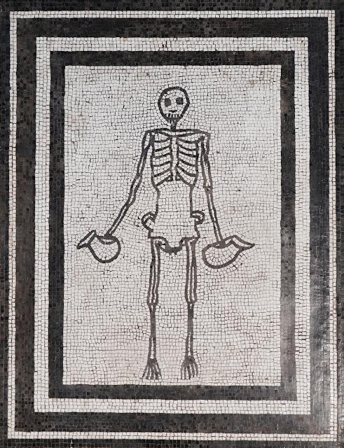 carpe diem mosaic, naples museum