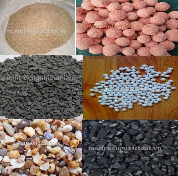 hình ảnh tổng hợp vật liệu lọc nước