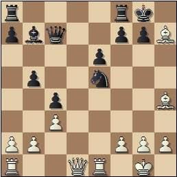 Partida de ajedrez Velat vs Cifuentes, Madrid 1950, posición después de 18.Axh7+