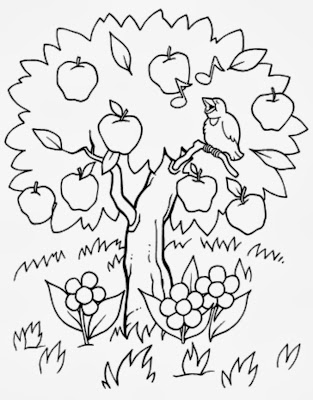Árvore para colorir - Natureza