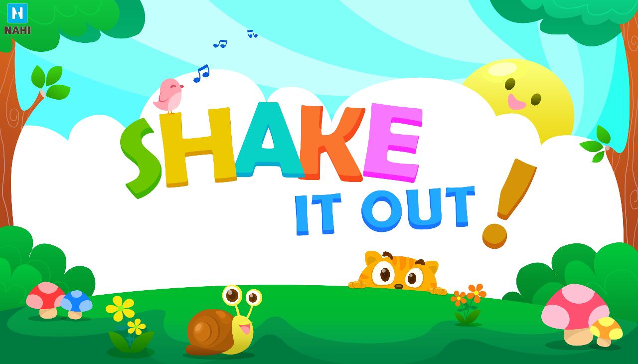 hoc tieng anh cho tre bằng trò chơi Shake It out