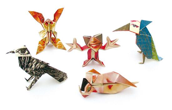 Japanese Graphic Design Trio Cochae Designs Origami Paper And Folding Instructions Via Designboom