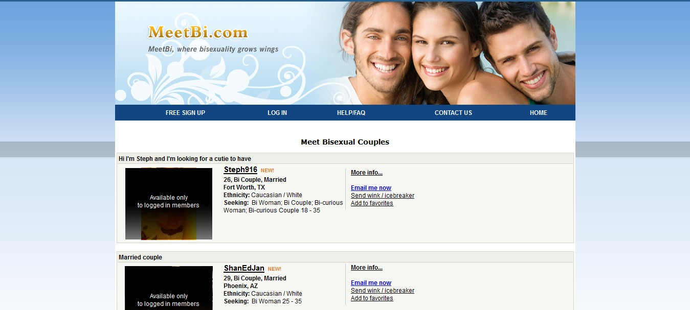 bisexual adult dating site Do not want anything serious just want to enjoy a bisexual hookup here is the right place just check the list of top 5 bisexual sex sites for bisexuals.