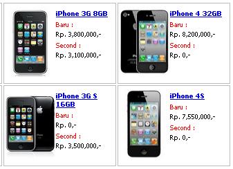 Harga Handphone on Harga Handphone Apple Maret 2012   Artikel Unik