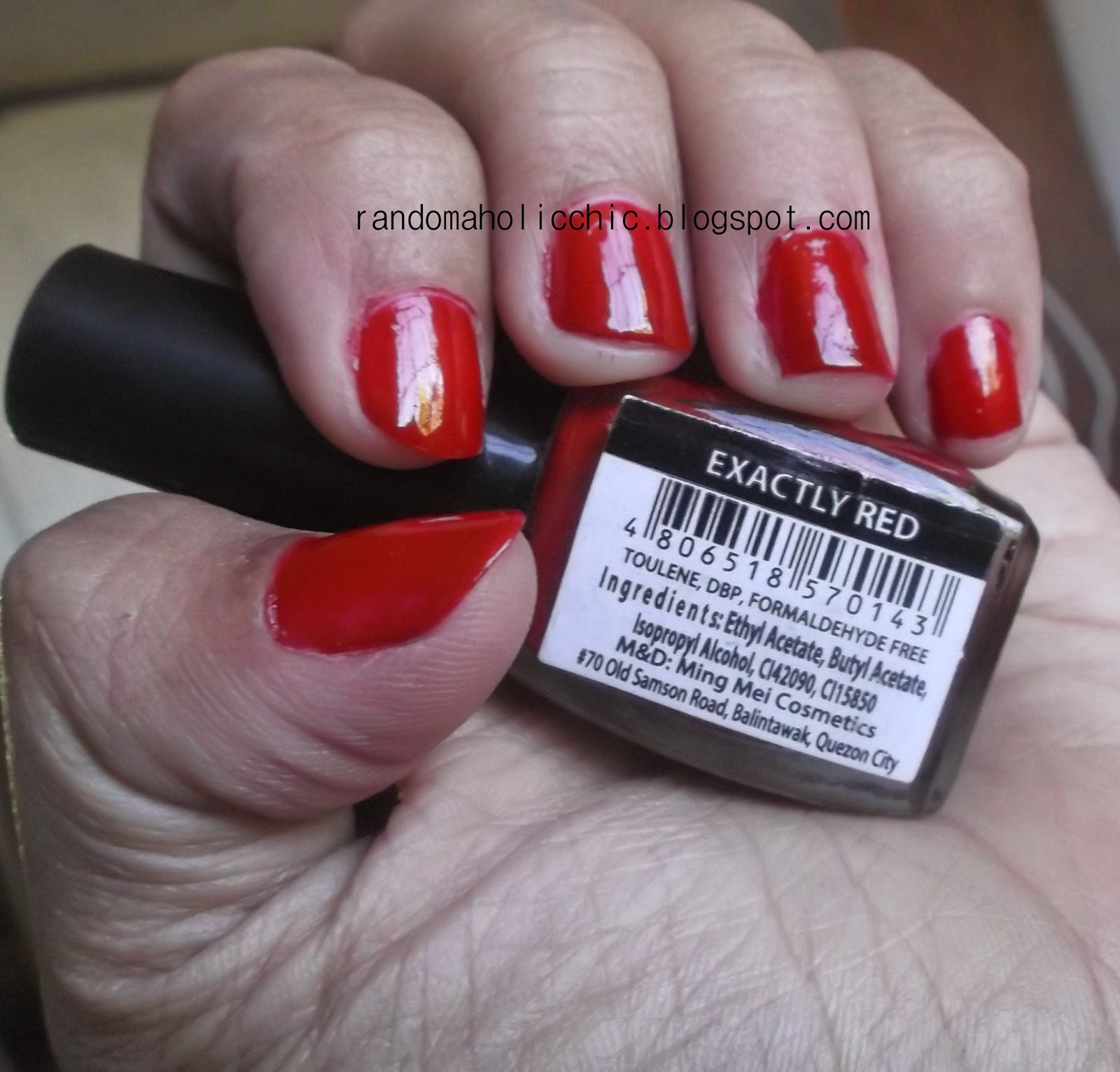 Randomaholic Chic: NOTD: Exactly Red, My Kind of Red