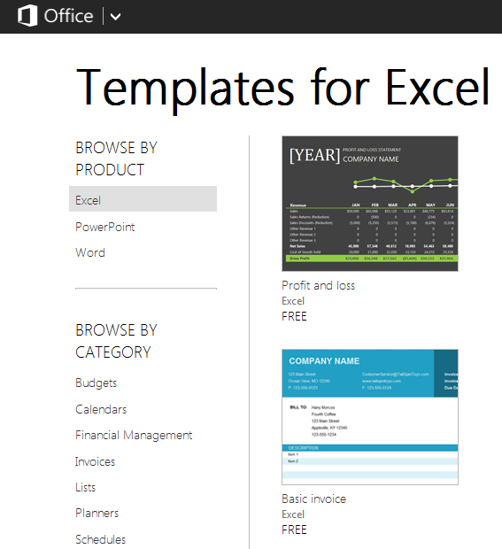 create invoices online with free templates at office.live, Invoice templates