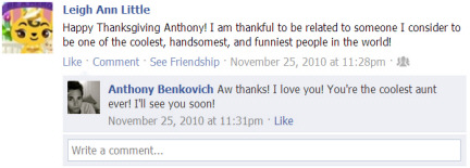 Thankful for Anthony Benkovich