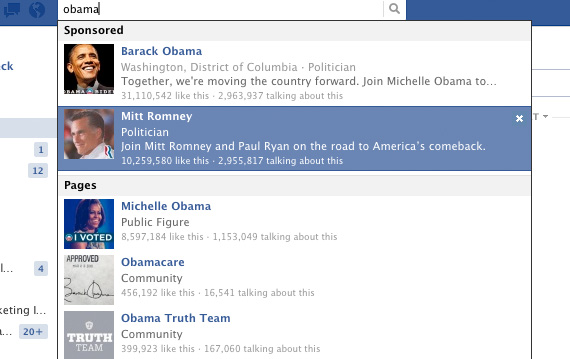 Obama Romney Facebook Ads