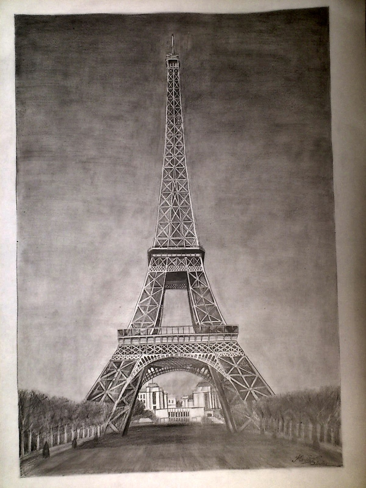 Dreams of an architect eiffel tower drawing for Eiffel architect