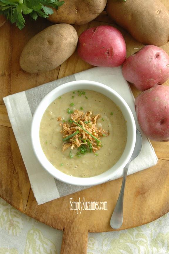 Simply Suzanne's AT HOME: creamy leek potato soup