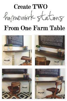 DIY Rustic Desks