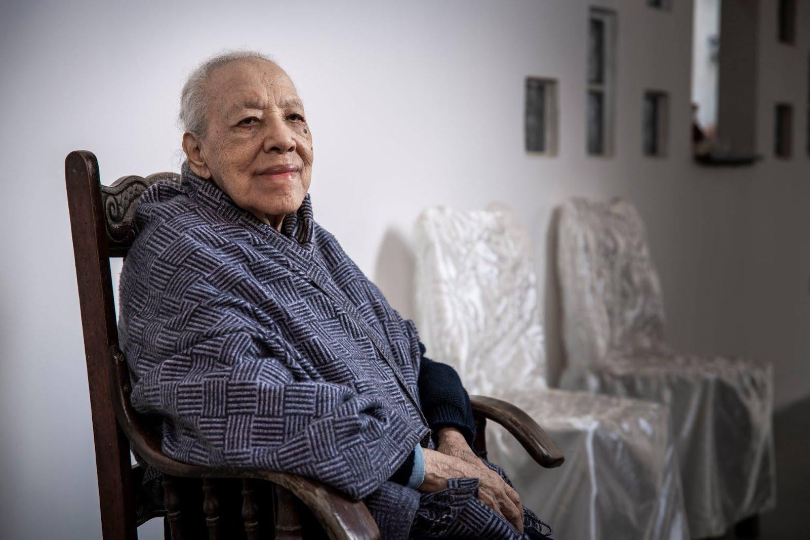 Sara Solano Mendoza viuda de Huapaya, San Luis de Cañete. Archivo: Luis Miranda