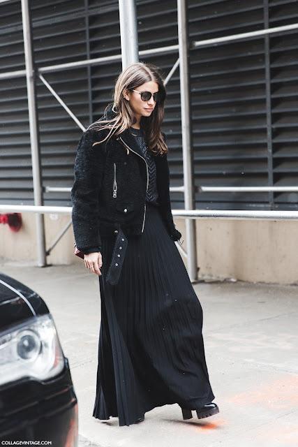 faldas largas street style 2015