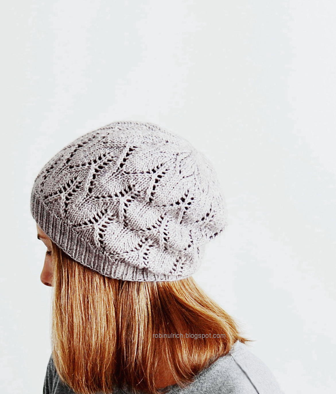 Free Knitting Pattern Lace Beanie : Robin Ulrich Studio: New Knitting Pattern - Greyhaven Hat