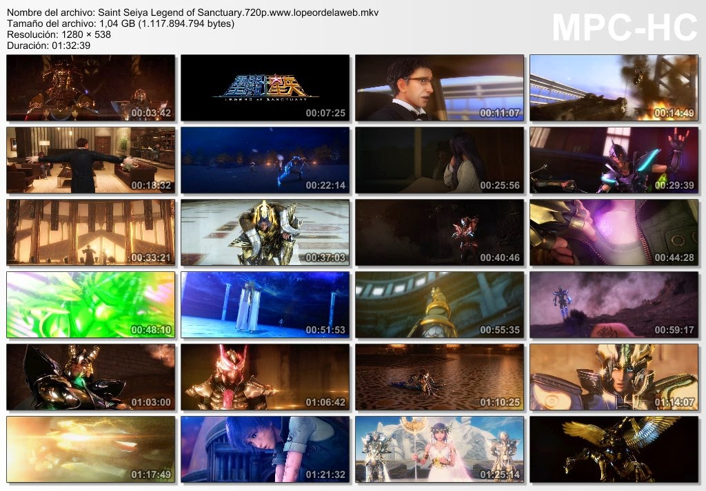 Saint Seiya: Legend of Sanctuary (2014) BRrip 720p Subt.