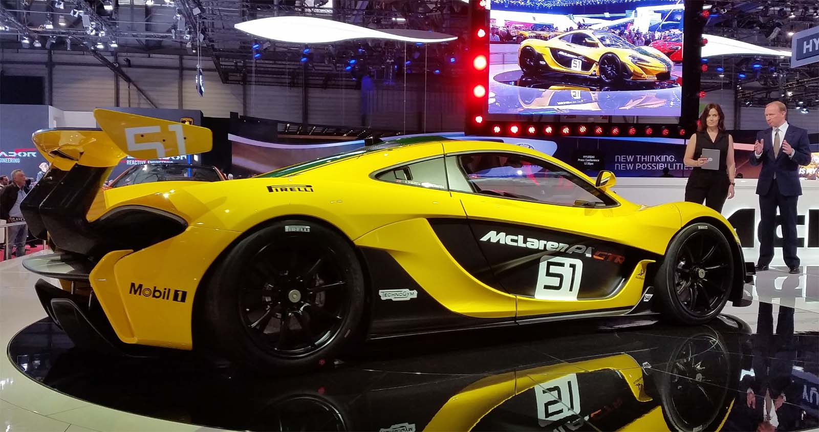 The Launch Of The McLaren P1 GTR And The McLaren 675LT Was An Excellent  Presentation; It Reminded Me Of The Scenery In The Disco Fever Era, But  Without The ...