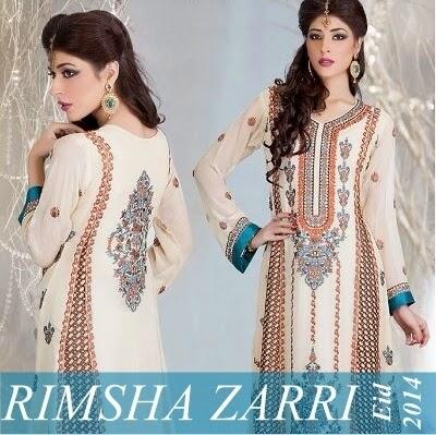 Ramsha Chiffon Embroidered Collection 2014