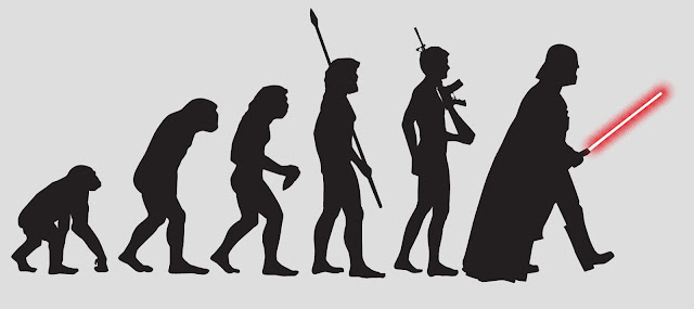 Star Wars, Evolution of man, humor
