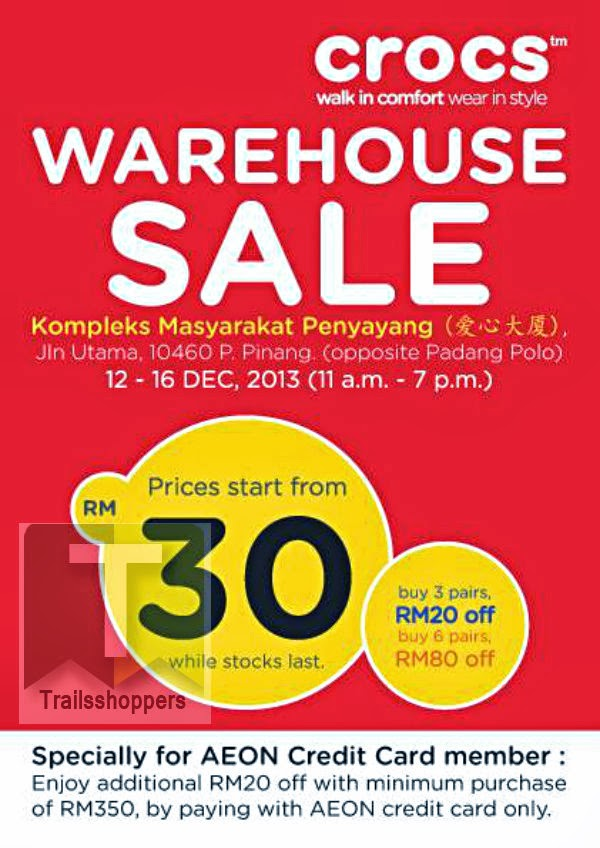 Crocs Warehouse Sale 2013