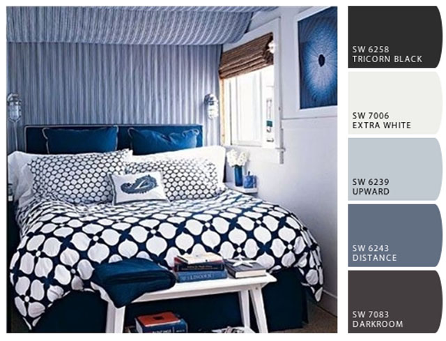 beachy blues room inspiration color palette