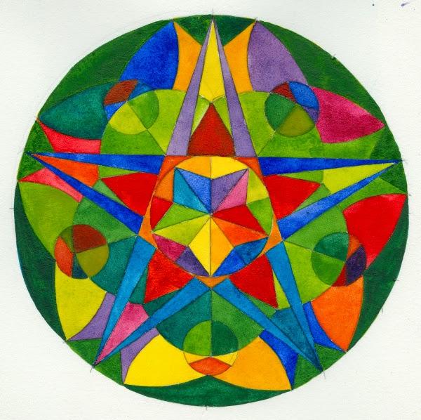 Chris Carter Art Smaller Than A Breadbox Color Wheel - Mandalas-en-color