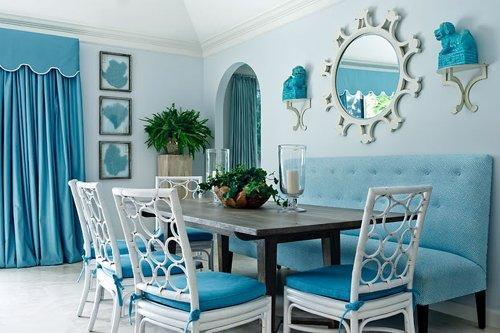 Decoracion Baños Azul Turquesa:Light Blue Dining Room Ideas
