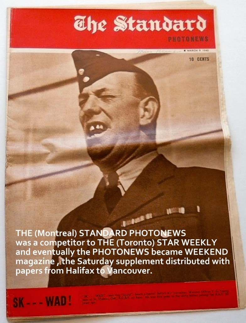 THE STANDARD PHOTONEWS, a 1940 copy. Canadian war news was a staple.