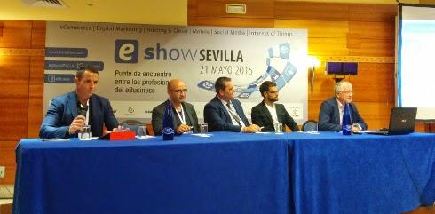 Mesa de debate sobre checout en eShow Sevilla