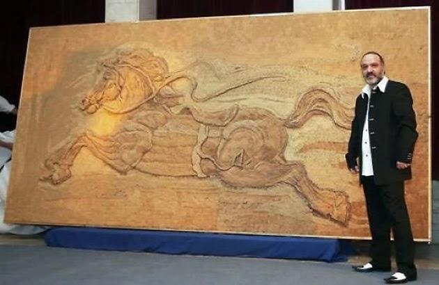 Saimir Strati, artista del mosaico, 7 récords mundiales guinness, Reinless Spirit