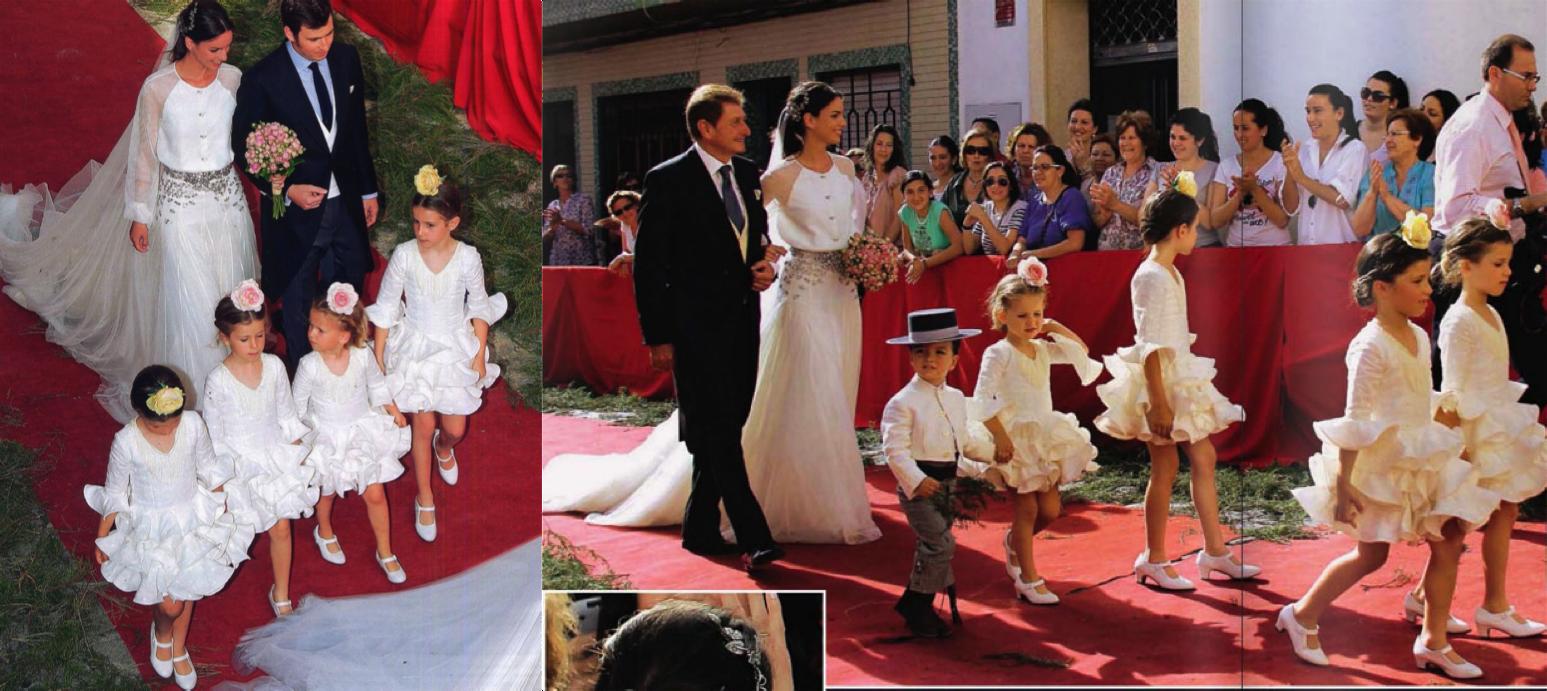 Cortejo de pajes en la boda de Mercedes Peralta