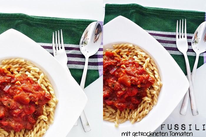 Fussili mit getrockneten Tomaten