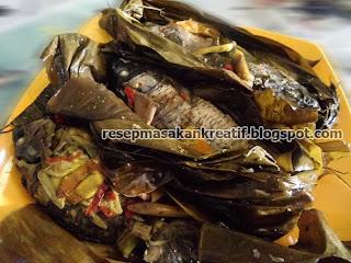 Cara Membuat Pepes Ikan Mas Presto Sunda Duri Lunak