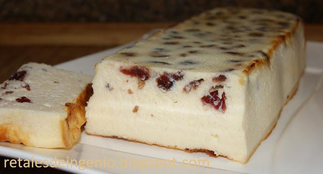 Pastel de queso con arándanos