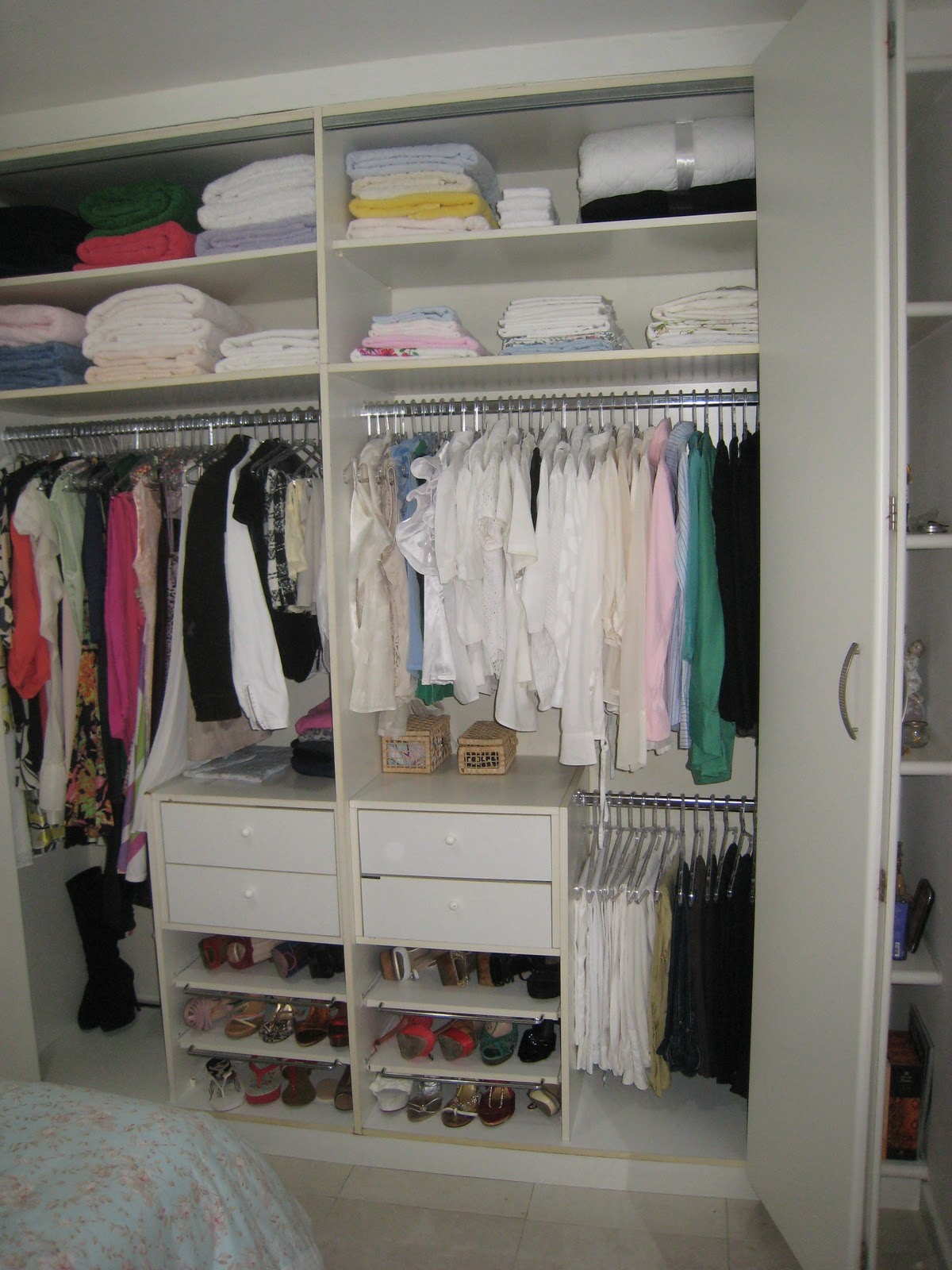 Armario De Banheiro Planejado ~ Kika Closet Organizando armário feminino