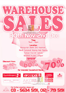 Luminarc Arcopal Warehouse Sale 2012