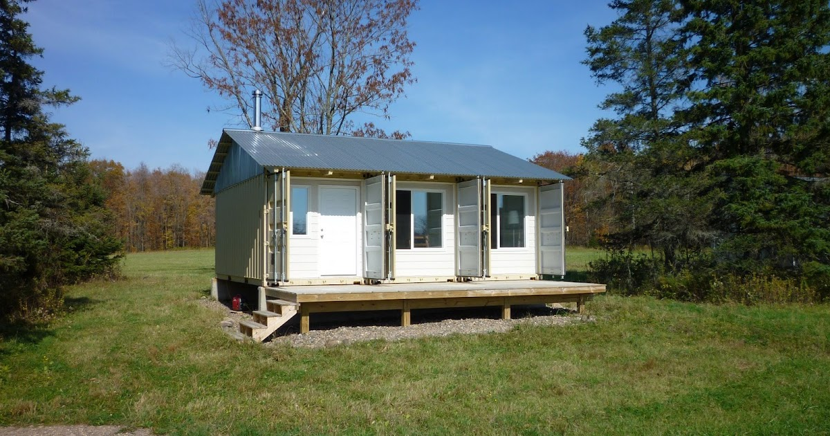 Shipping container homes tin can cabin in northern wisconsin for Northern wisconsin home builders
