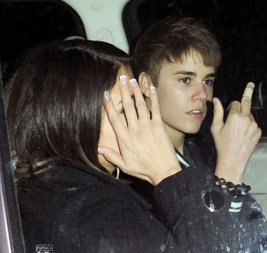 Justin Bieber doigt d'honneur