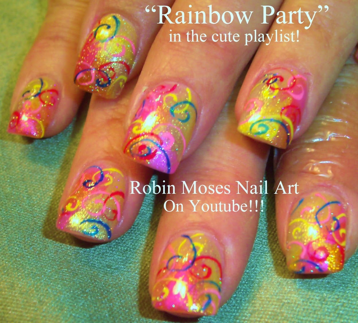 Robin moses nail art party nails spring nails nail art party nails spring nails nail art nail tutorial spring nail design birthday nail art birthday nails rainbow party nails prinsesfo Choice Image